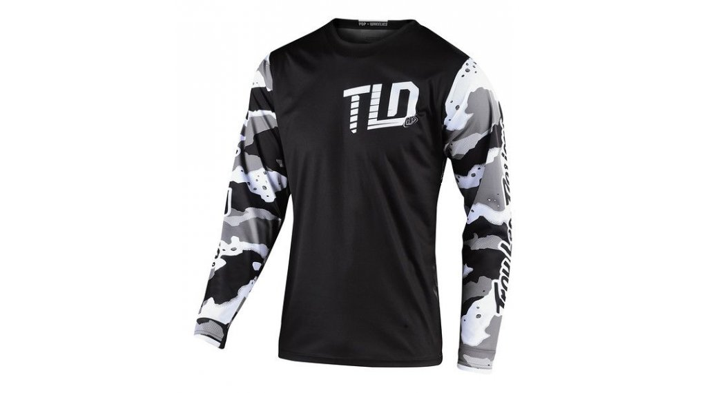 Troy Lee Designs GP MX-Trikot langarm Kinder Gr. SM (S) camo white/black