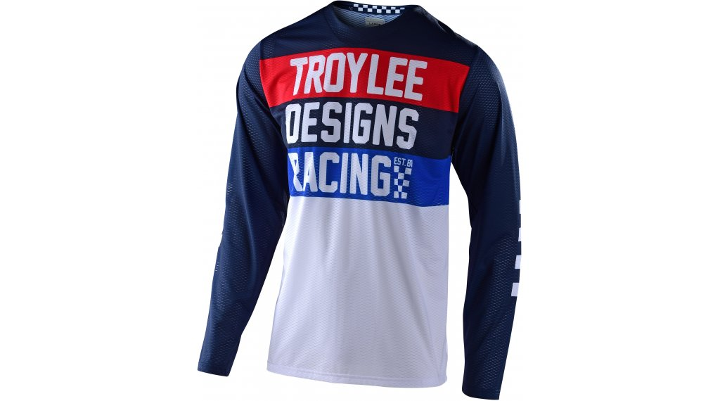 Troy Lee Designs GP Air Continental maillot manga larga Caballeros tamaño SM (S) navy
