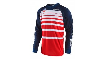 Troy Lee Designs SE Streamline maillot manga larga Caballeros rojo/navy