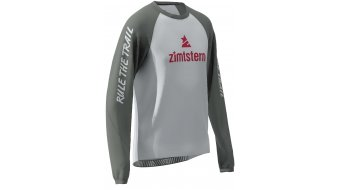 Zimtstern PureFlowz Trikot langarm Herren Gr. S glacier grey/gun metal/cyber red
