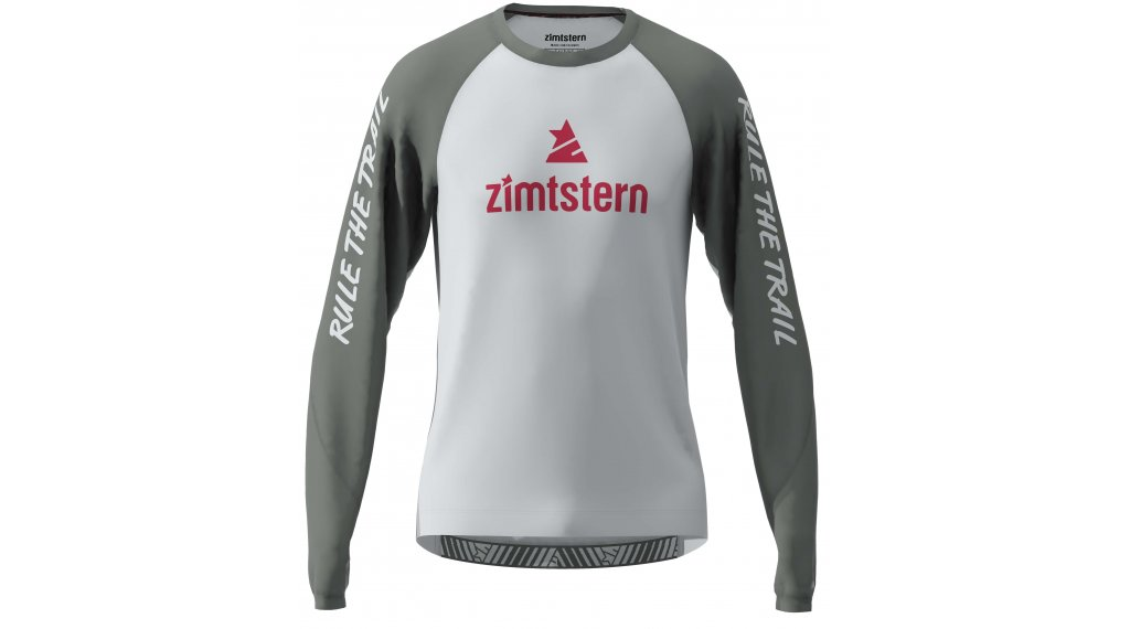 Zimtstern PureFlowz Trikot Herren langarm Gr. S glacier grey/gun metal/cyber red