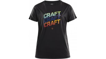 Craft Eaze logo Mesh T-shirt short sleeve ladies size M black/r stroke arb- MUSTERcollection