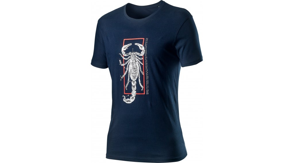 Castelli Logo T-Shirt kurzarm Herren Gr. M dark infinity blue