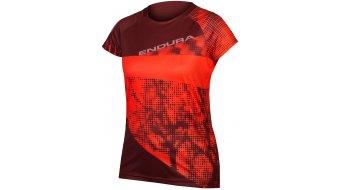 Endura SingleTrack Dots LTD t-shirt manica corta da donna . hi-viz coral