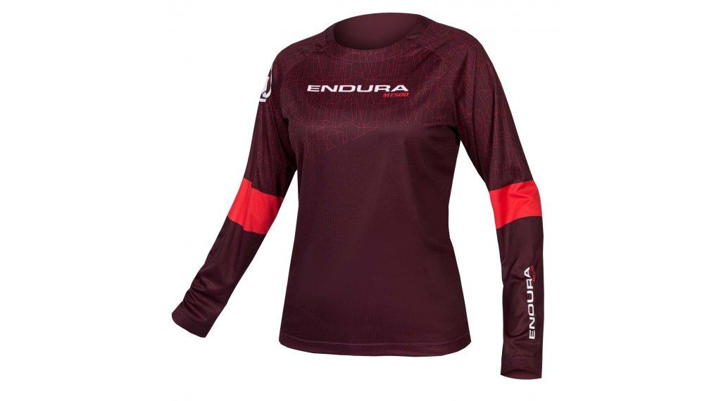 Endura MT500 L/S Print T II T-Shirt Damen Gr. XS maulbeere