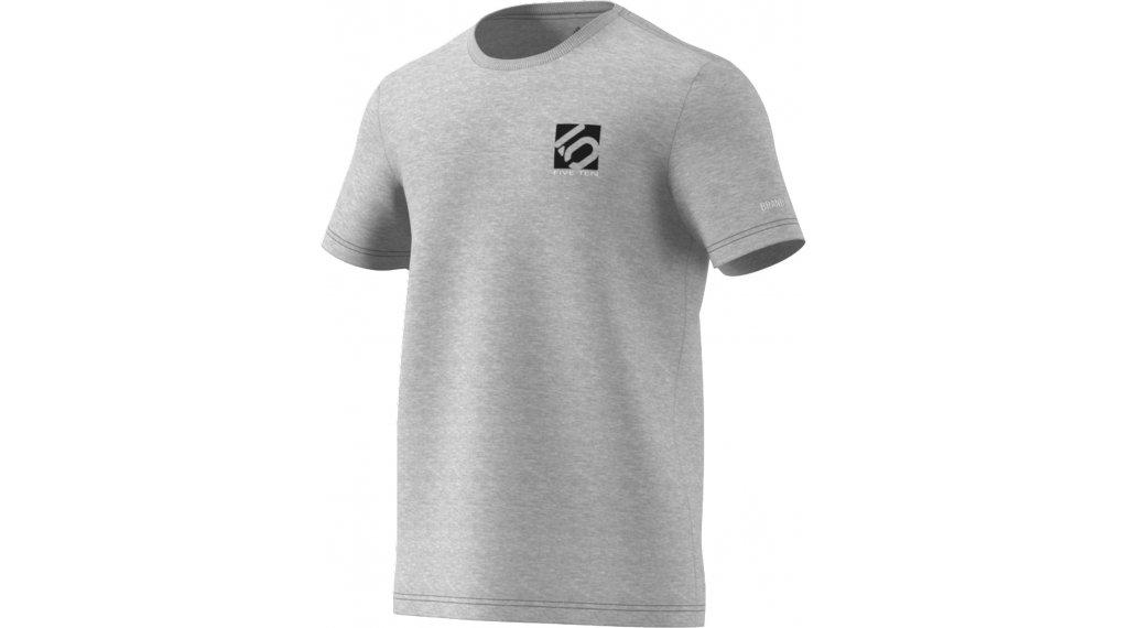 Five Ten Logo T-Shirt kurzarm Herren Gr. S medium grey heather