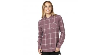 Fox Roost langarm Flannelhemd Damen purple