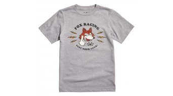 Fox Test your Luck kurzarm T-Shirt Kindern Gr. 140-146 (YL) heather grey
