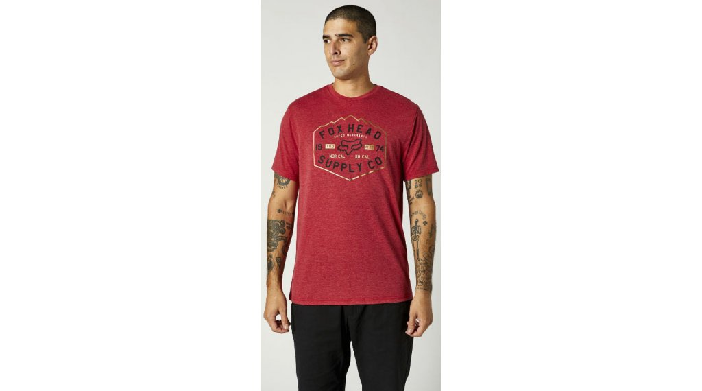 FOX Backbone Tech t-shirt manches courtes hommes Gr. S chili