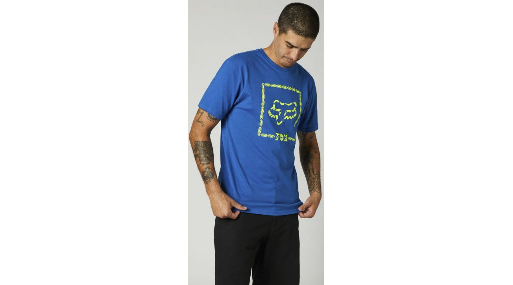 FOX Cell Block premium t-shirt manches courtes hommes Gr. S royal bleu