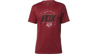 Fox Looped Out camiseta de manga corta Caballeros-camiseta tamaño S heather rojo