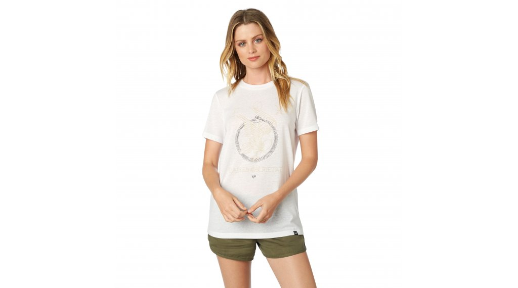 922563ab3213 FOX No Dice Crew tričko krátký rukáv dámské velikost XS white