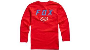 Fox Dusty Trails Youth niños camiseta manga larga dark rojo