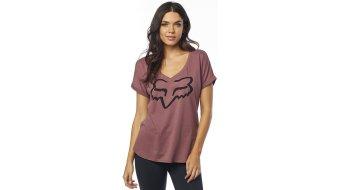 Fox Responded SS Vneck RL Slve T-Shirt 女士 型号 XS rosé