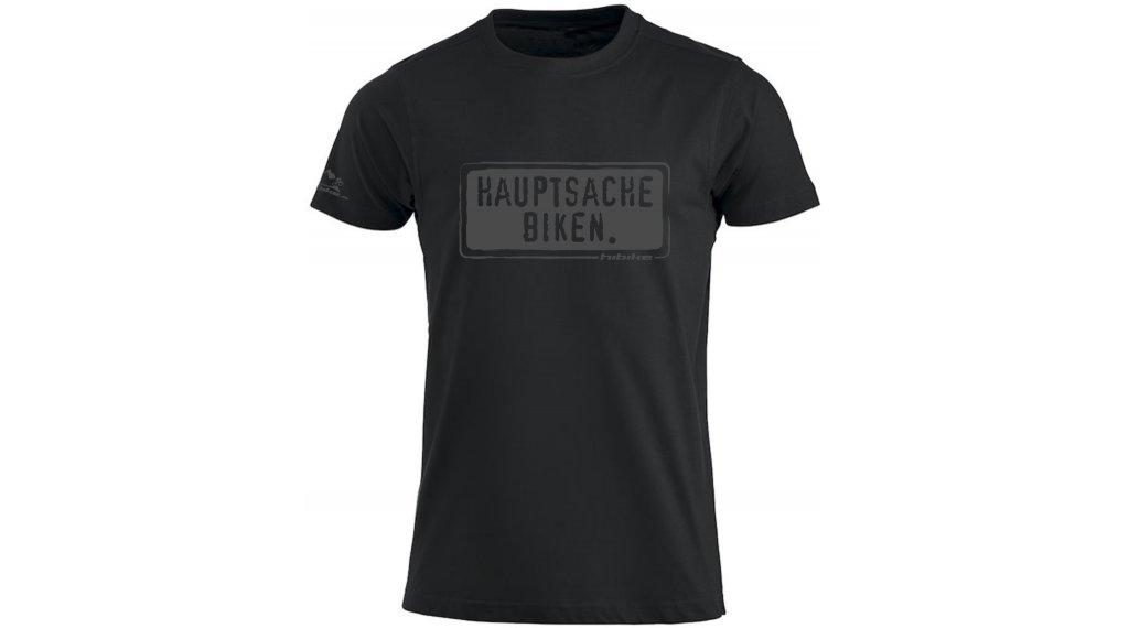 HIBIKE Hauptsache Biken. T-Shirt kurzarm Herren-T-Shirt Gr. S schwarz/grau