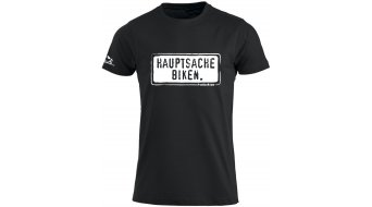 HIBIKE Hauptsache Biken. T-shirt short sleeve men-T-shirt black/white