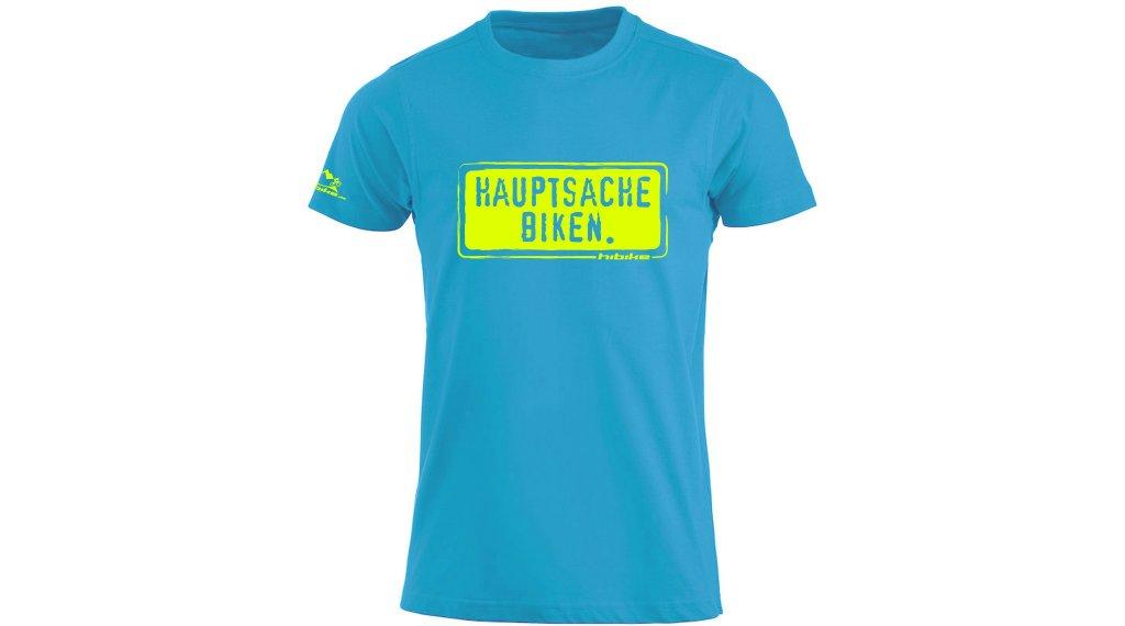 HIBIKE Hauptsache Biken. T-Shirt kurzarm Herren-T-Shirt Gr. XL türkis/neon