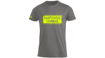 HIBIKE Hauptsache Fahrrad. T-shirt short sleeve men-T-shirt grey/neon