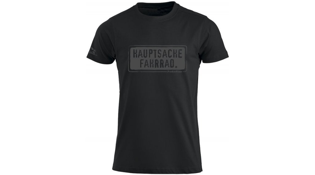 HIBIKE Hauptsache Fahrrad. T-Shirt kurzarm Herren-T-Shirt Gr. S schwarz/grau