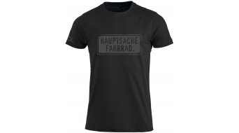 HIBIKE Hauptsache Fahrrad. T-shirt short sleeve men-T-shirt size S black/grey