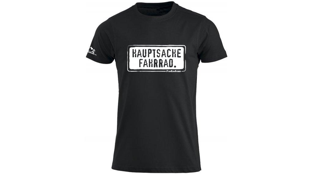 HIBIKE Hauptsache Fahrrad. T-shirt short sleeve men-T-shirt size S black/white