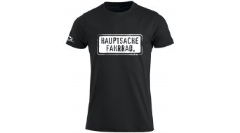 HIBIKE Hauptsache Fahrrad. T-shirt short sleeve men-T-shirt black/white