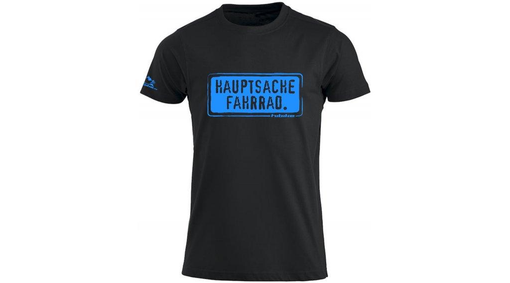 HIBIKE Hauptsache Fahrrad. T-Shirt kurzarm Herren-T-Shirt Gr. S schwarz/blau