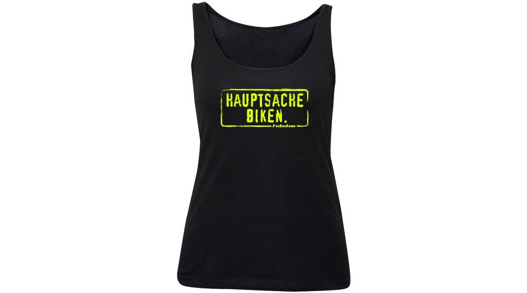 HIBIKE Hauptsache Biken. T-Shirt ärmellos Damen Tank-Top Gr. S schwarz/neon gelb