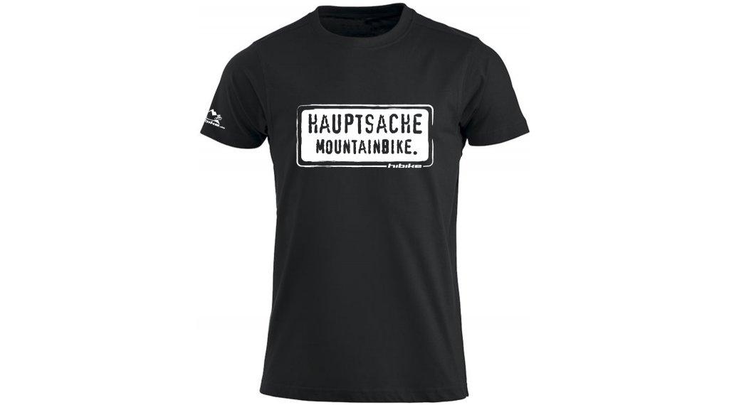 "HIBIKE ""Hauptsache Mountainbike."" T-Shirt kurzarm Herren-T-Shirt Gr. S schwarz/weiß"