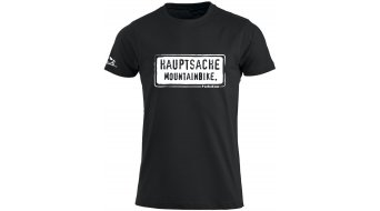 HIBIKE Hauptsache mountainbike . T-shirt short sleeve men-T-shirt black/white