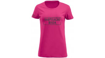 HIBIKE Hauptsache Biken. T-shirt short sleeve ladies-T-shirt pink/grey