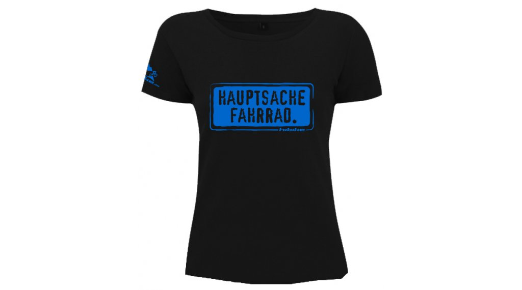 "HIBIKE ""Hauptsache Fahrrad."" T-Shirt Damen-T-Shirt kurzarm Gr. S black (Continental N09)"
