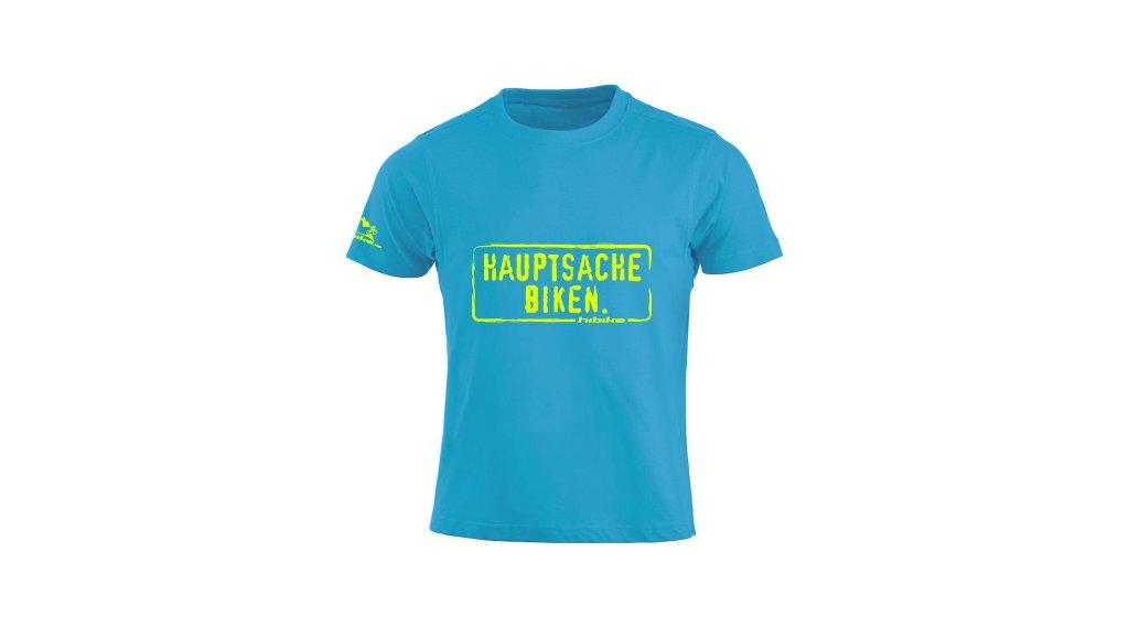 HIBIKE Hauptsache Biken. T-Shirt kurzarm Kinder-T-Shirt Gr. 116 (110/120) türkis/neon