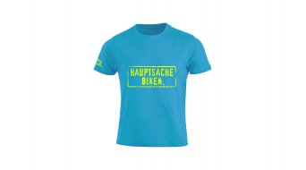 HIBIKE  Hauptsache Biken. t-shirt manica corta bambini- t-shirt . turchese/neon