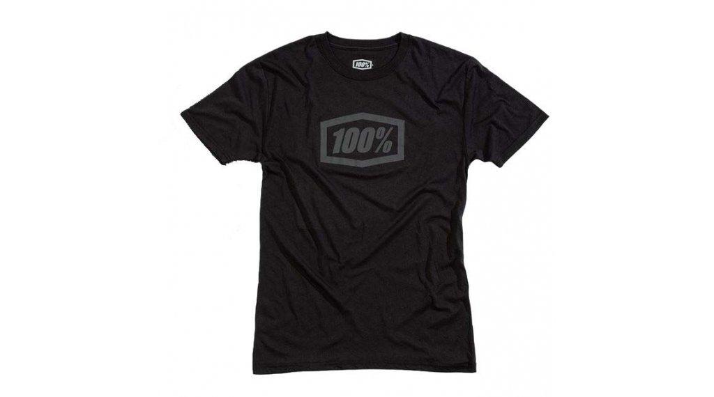 100% Essential Tech T-Shirt Herren kurzarm Gr. S black/grey