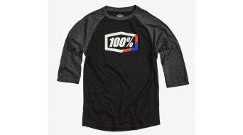 100% Stripes Tech T-Shirt langarm Herren Gr. S black