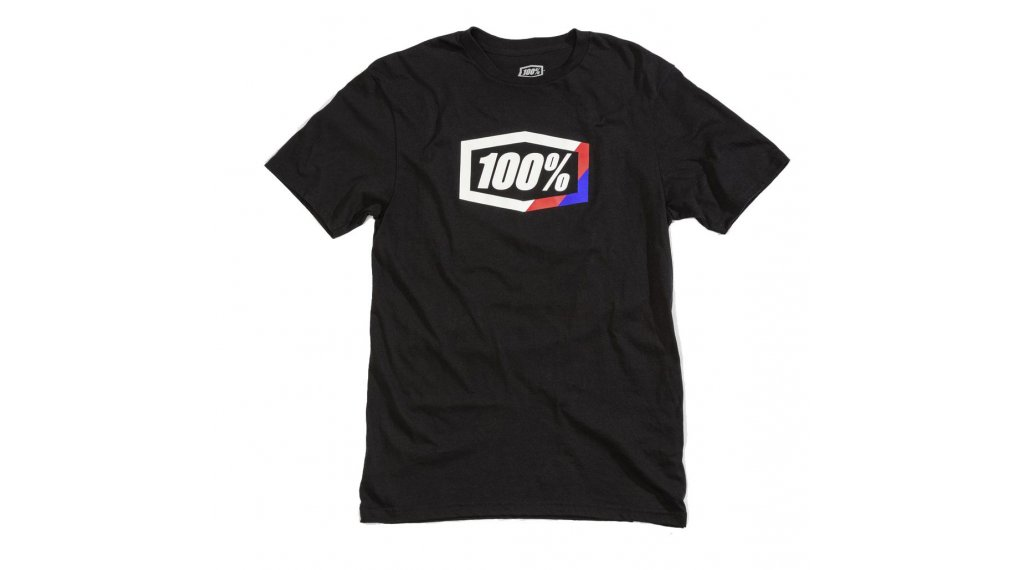 100% Stripes T-Shirt Herren kurzarm Gr. S black