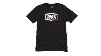 100% Stripes T-shirt men short sleeve black