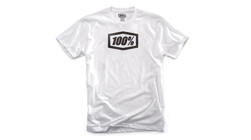 100% Essential T-Shirt 短袖 男士 型号 S white.