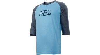 iXS Brand 6.1 T-Shirt 3/4-arm Herren Gr. S light blue / night blue