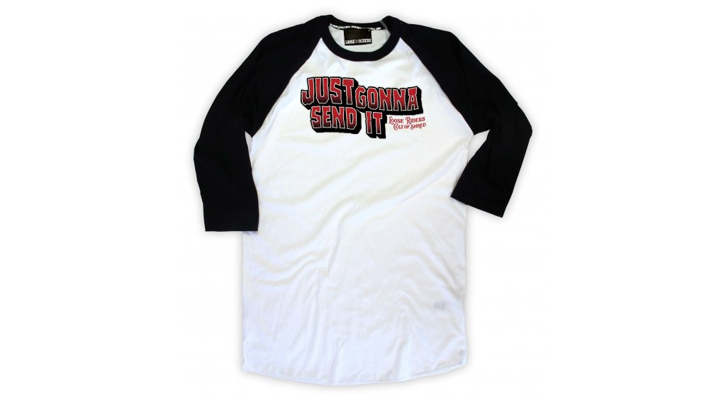 Loose Riders Gonna Send It T-Shirt 3/4-arm Gr. S white/black