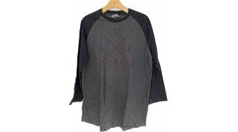 Loose Riders Heather Raglan t-shirt maniche 3/4 da uomo grigio/nero