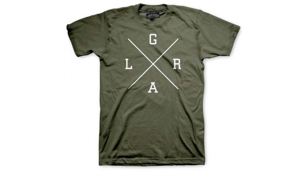 Loose Riders X-Logo T-Shirt kurzarm Herren Gr. M army
