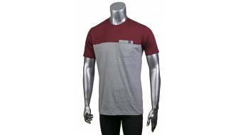 Loose Riders Burgundy t-shirt manica corta da uomo . grey/red