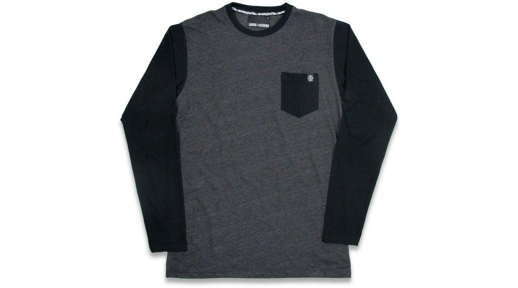 Loose Riders Heather t-shirt manches longues hommes Gr. S gris/noir