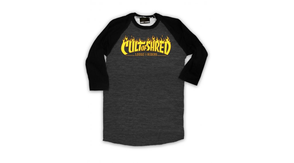 Loose Riders Cult of Shred Heater T-Shirt 型号 XXL black/grey