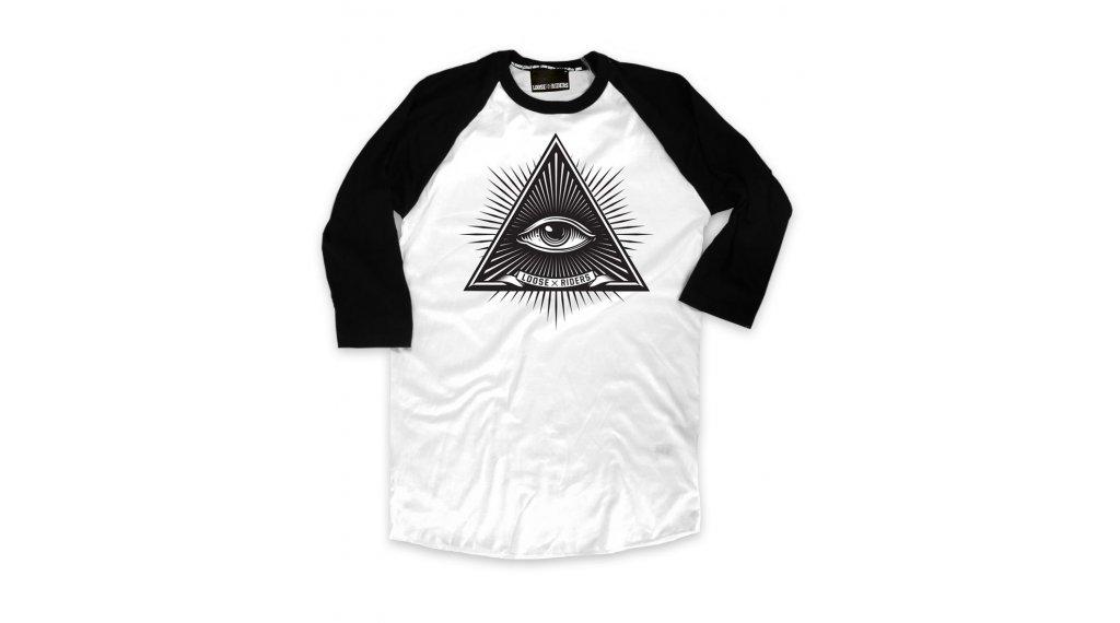 Loose Riders Third Eye White t-shirt Gr. S noir/blanc