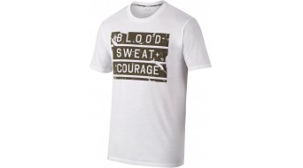 Oakley sin-Courage camiseta de manga corta Caballeros-camiseta tamaño M blanco (Regular Fit)