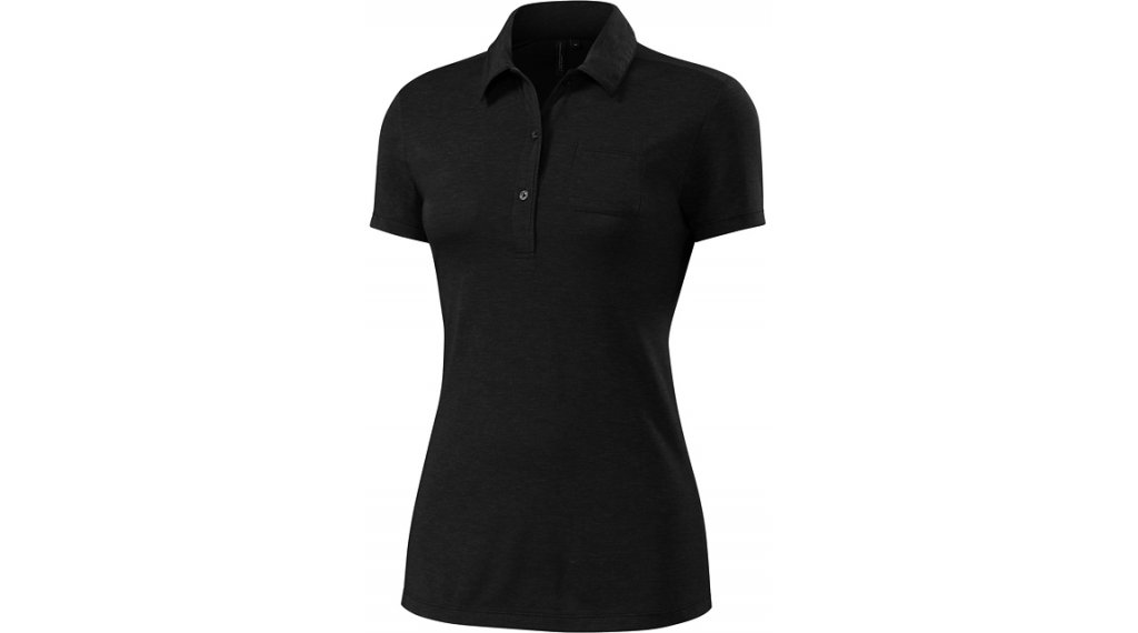 Specialized Utility Merino Polo Shirt 女士 型号 L black- SAMPLE