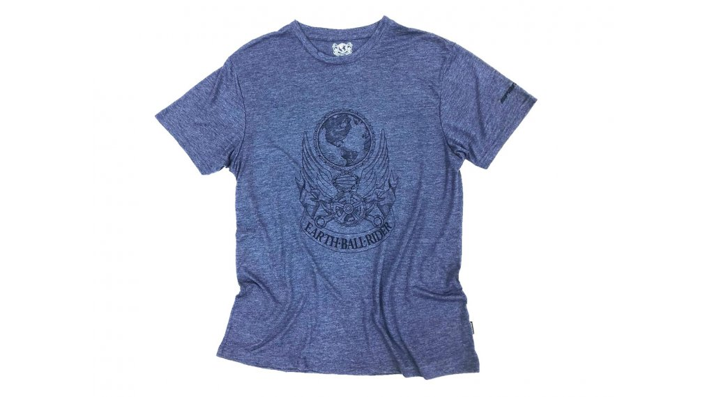 Spank Earthball Rider T-Shirt kurzarm Herren Gr. S blue